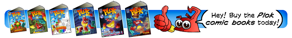 Buy Plok comic books!